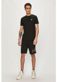 Czarny t-shirt Fila gładki, na co dzień