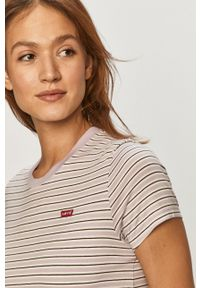 Fioletowa bluzka Levi's® na spotkanie biznesowe, casualowa