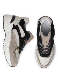 Beżowe buty sportowe Togoshi na co dzień, z cholewką