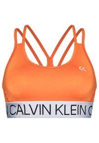 Pomarańczowy biustonosz sportowy Calvin Klein Performance