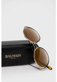 Balmain - Okulary przeciwsłoneczne BL2520B 01. Kształt: okrągłe. Kolor: brązowy