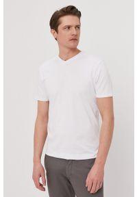 Selected - T-shirt. Kolor: biały. Materiał: dzianina, materiał. Wzór: gładki