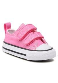 Converse - Trampki CONVERSE - Ct 2v Ox 709447C Pink. Okazja: na spacer. Zapięcie: rzepy. Kolor: różowy. Materiał: materiał. Szerokość cholewki: normalna