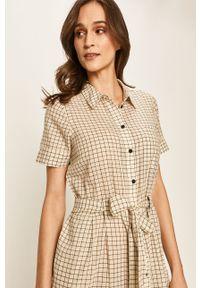Kremowa sukienka Noisy may na co dzień, mini, prosta, z krótkim rękawem #5