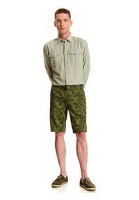 TOP SECRET - Koszula z lnem o dopasowanym kroju. Kolor: zielony. Materiał: len. Długość rękawa: długi rękaw. Długość: długie. Sezon: lato, wiosna #6