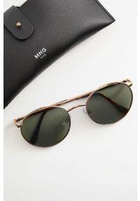 Złote okulary przeciwsłoneczne Mango Man