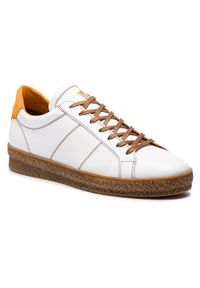 Białe sneakersy Togoshi z cholewką, na co dzień