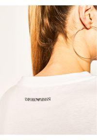 Emporio Armani T-Shirt 3H2T7Q 2J95Z 0100 Biały Regular Fit. Kolor: biały