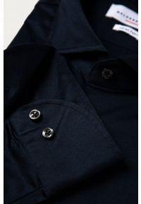 Baldessarini - Koszula bawełniana. Okazja: na co dzień. Typ kołnierza: kołnierzyk włoski. Kolor: niebieski. Materiał: bawełna. Wzór: gładki. Styl: casual