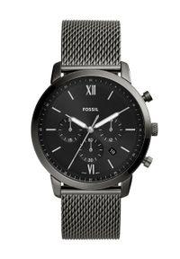 Fossil - FOSSIL - Zegarek FS5699. Kolor: czarny. Materiał: materiał