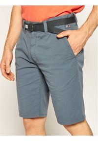 Tommy Jeans Szorty materiałowe Vintage DM0DM07932 Szary Regular Fit. Kolor: szary. Materiał: materiał. Styl: vintage