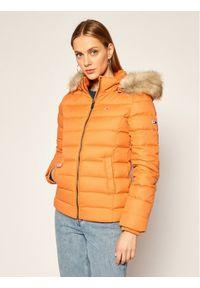 Pomarańczowa kurtka puchowa Tommy Jeans