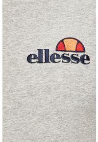 Szary t-shirt Ellesse na co dzień, z aplikacjami