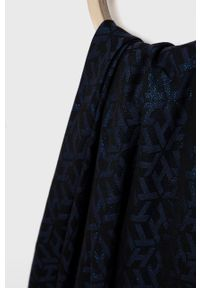 TOMMY HILFIGER - Tommy Hilfiger - Szal. Kolor: niebieski. Materiał: tkanina, materiał