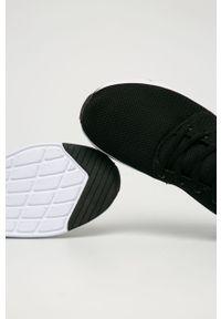 Czarne sneakersy Kappa z okrągłym noskiem, z cholewką, na sznurówki