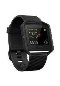 Czarny zegarek FITBIT sportowy, smartwatch