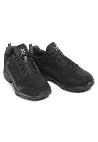 Haglöfs - Trekkingi HAGLÖFS - Skuta Low Proof Eco Men 498410 True Black. Kolor: czarny. Materiał: skóra, skóra ekologiczna, zamsz. Szerokość cholewki: normalna. Sport: turystyka piesza #4