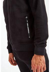 Karl Lagerfeld - BLUZA KARL LAGERFELD. Typ kołnierza: kołnierzyk stójkowy. Materiał: guma. Długość: długie