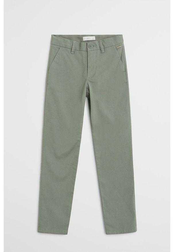 Zielone spodnie Mango Kids