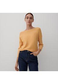 Reserved - Bluzka z wiskozą - Żółty. Kolor: żółty. Materiał: wiskoza