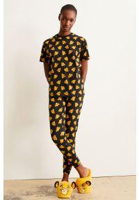 Undiz - Spodnie piżamowe HAPPYSIMBIZ. Kolor: czarny. Materiał: dzianina