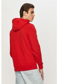 Czerwona bluza nierozpinana TOMMY HILFIGER z kapturem, na co dzień