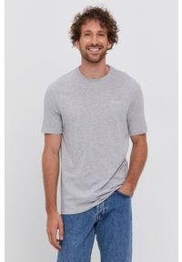 Armani Exchange - T-shirt bawełniany. Kolor: szary. Materiał: bawełna. Wzór: nadruk