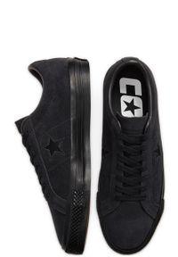 Czarne niskie trampki Converse z okrągłym noskiem, z cholewką