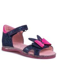 Niebieskie sandały RenBut na lato, z aplikacjami