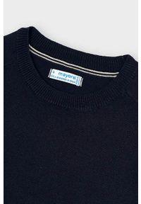 Niebieski sweter Mayoral na co dzień, casualowy, z okrągłym kołnierzem, raglanowy rękaw