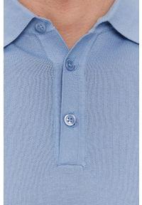 Niebieska koszulka polo Strellson na co dzień, gładkie