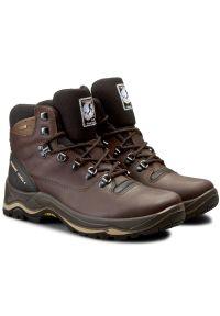 Brązowe buty trekkingowe Grisport z cholewką, trekkingowe