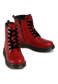 Nelli Blu - Trapery NELLI BLU - CS102607-12 Red. Okazja: na spacer. Kolor: czerwony. Materiał: skóra. Sezon: zima