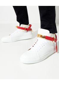 BUSCEMI - Wysokie sneakersy 100MM. Zapięcie: pasek. Kolor: biały. Materiał: guma. Szerokość cholewki: normalna
