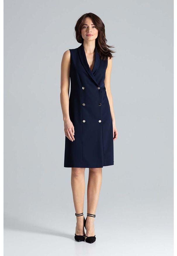 Niebieska sukienka Katrus szmizjerki