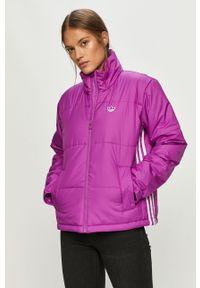 Fioletowa kurtka adidas Originals casualowa, na co dzień
