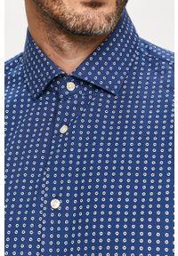 Niebieska koszula Tommy Hilfiger Tailored z klasycznym kołnierzykiem, casualowa, długa, na co dzień