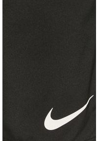 Czarne szorty Nike gładkie, sportowe, na co dzień