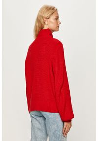Czerwony sweter Noisy may z golfem, casualowy, na co dzień #5