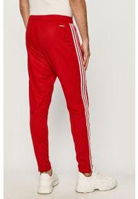 Czerwone spodnie dresowe adidas Performance