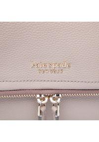 Kate Spade - Torebka KATE SPADE - Large Flap Crossbody PXR00404 Warm Taupe 140U. Kolor: beżowy. Materiał: skórzane