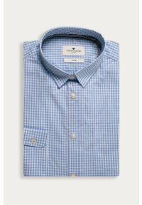 Niebieska koszula Tom Tailor Denim z klasycznym kołnierzykiem, casualowa, na co dzień, długa