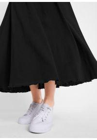 Długa spódnica z dżerseju bonprix czarny. Kolor: czarny. Materiał: jersey. Długość: długie