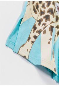 Koszula nocna bonprix matowy morski z nadrukiem