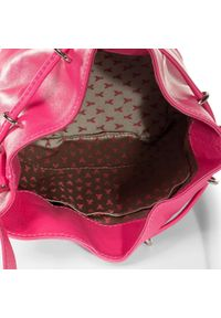Różowa torebka worek Patrizia Pepe casualowa