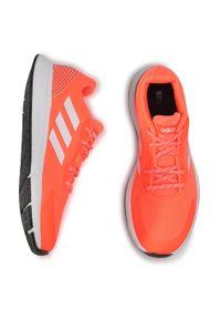 Pomarańczowe buty do biegania Adidas z cholewką