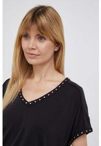 Mos Mosh - T-shirt. Kolor: czarny. Materiał: dzianina. Wzór: aplikacja