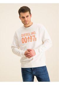 Diesel Bluza S-Girk-J3 00SDPY 0IAJH Biały Regular Fit. Kolor: biały