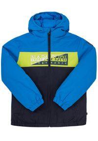 Napapijri Kurtka zimowa Aky N0YIW9 Granatowy Regular Fit. Kolor: niebieski. Sezon: zima