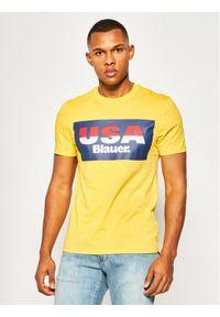 Żółty t-shirt Blauer